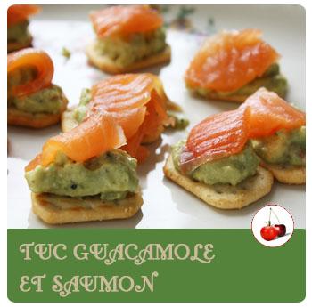 Tuc au guacamole et saumon