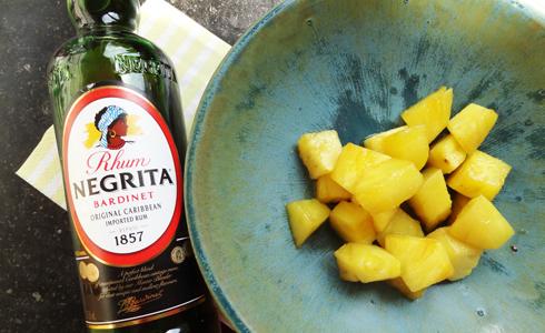 Ananas poêlé au Rhum
