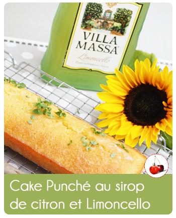 cake punch au sirop de citron et limoncello