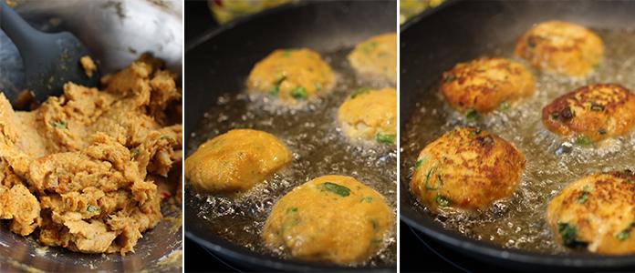 Galettes de poisson au curry rouge