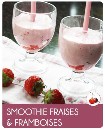 Smoothie fraises et framboises