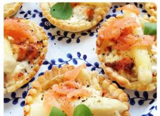 Tartelette asperges aux deux saumons