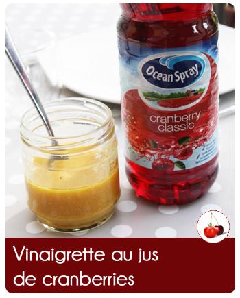 Vinaigrette au jus de cranberries