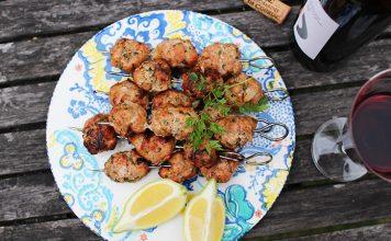Brochettes de boulettes de veau citron