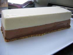 Buche de noel au 3 chocolats