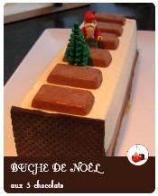 Buche de noel aux trois chocolats
