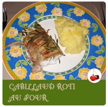 Cabillaud roti au four au bacon et au romarin de v ro - Cuisiner dos cabillaud ...