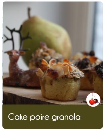 Cake aux poires granola