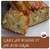 Cake aux pommes et foie gras
