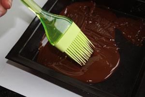 Carré de Noel chocolat marron