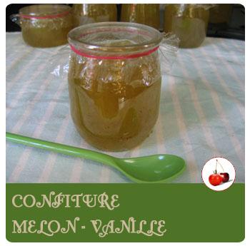 confiture melon - vanille