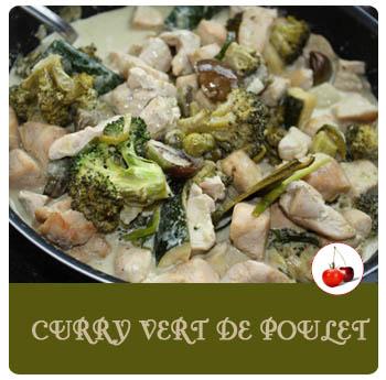 Curry vert de poulet aux aubergines tha - Cuisine thai poulet curry vert ...