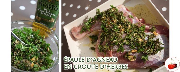 ÉPAULE D'AGNEAU EN CROUTE D'HERBES