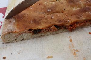 focaccia au thon et olives