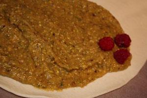 galette des rois pistaches framboises