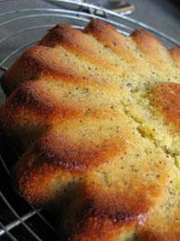 gâteau à l'orange et pavots