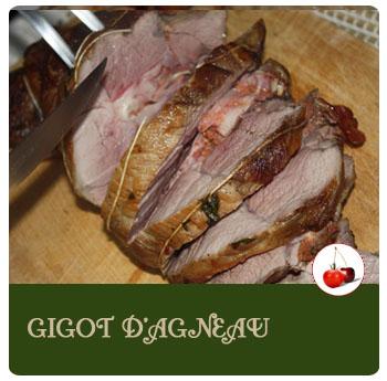 Gigot d'agneau ail, tapenade et pancetta