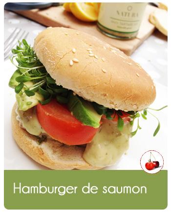 Hamburger de saumon   Une recette parfaite pour le lunch