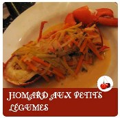 homard aux petits légumes