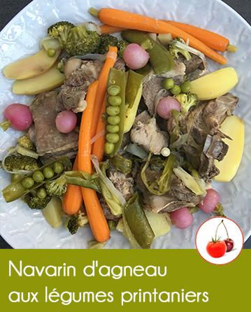 Navarin d'agneau aux légumes printaniers