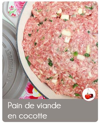 Pain de viande en cocotte, une recette au four