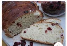 Pain brioche aux cranberries | Une recette de pain