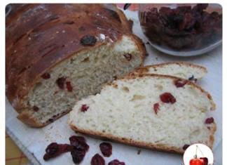 Pain brioche aux cranberries   Une recette de pain