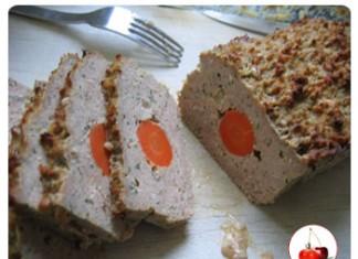 Pain de viande coeur de carotte