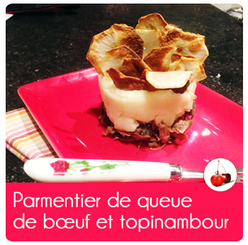 Parmentier de queue de bœuf et topinambour