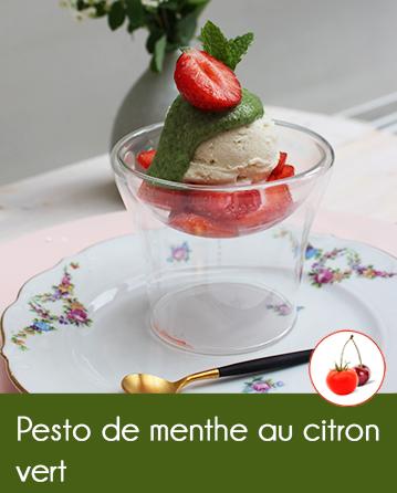 Pesto de menthe au citron vert