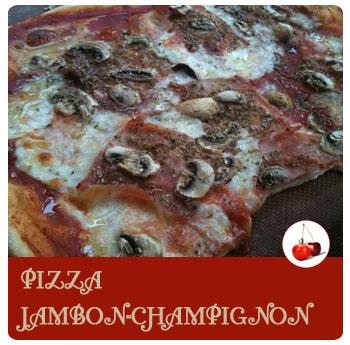 Pizza Regina ou jambon et champignons