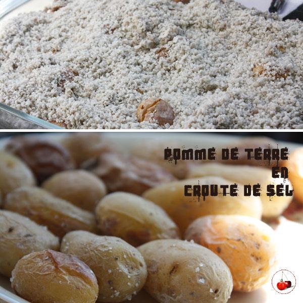 Pomme de terre en croute de sel