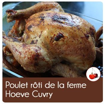 Poulet rôti de la ferme Hoeve Cuvry