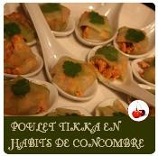 poulet tikka en habits de concombre