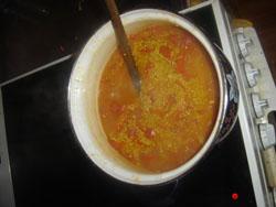 quinoa poivron rouge tomate curcuma coriandre