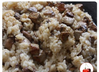 Risotto aux champignons et dés de foie gras poêlé | Une recette festive