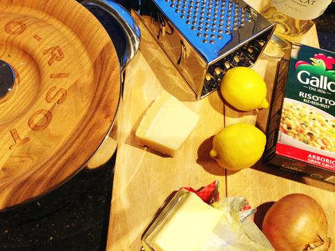 Risotto fèves des marais et citron