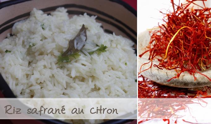 riz safran citron
