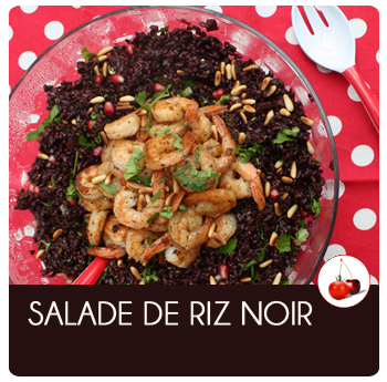 salade de riz noir et scampis une recette un peu festive. Black Bedroom Furniture Sets. Home Design Ideas