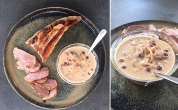 Rôti de porc sauce airelles et moutarde