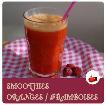 Smoothies oranges et framboises