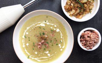 Soupe chicons et crevettes