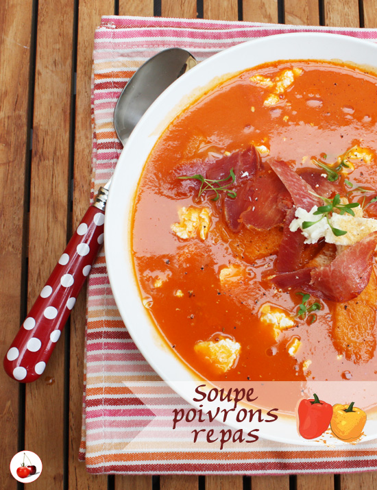 Soupe poivron repas