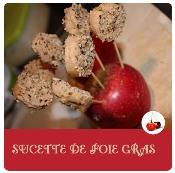 sucettes de foie gras