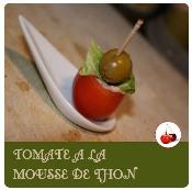 tomate à la mousse de thon