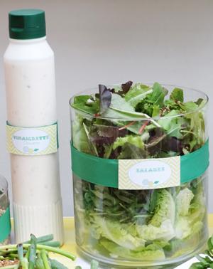 Salade et vinaigrette