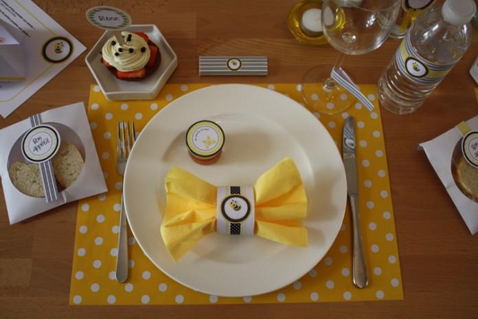 Décoration de table | Buzz... l'abeille... en jaune et noir