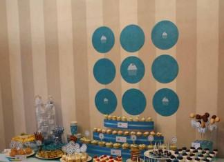 Décoration de Buffet | Cupcake Party dans les tons turquoise