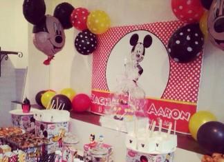 Mouse Party - Une décoration de buffet d'anniversaire