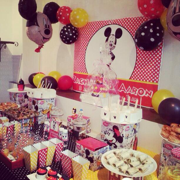 Mouse Party - Une décoration de buffet d'anniversaire